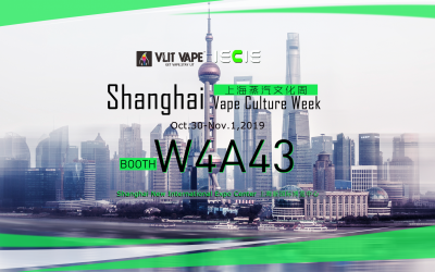 Invitation of Shanghai Vape Culture Week 2019 (10.30–11.1)